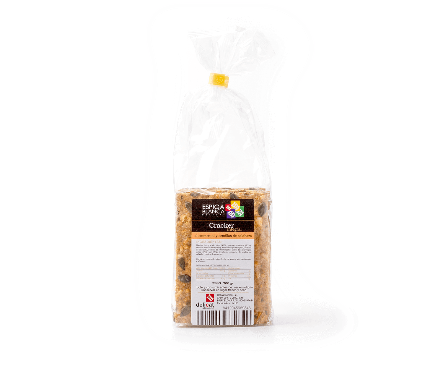 Cracker emmental llavors E.Blanca 200g