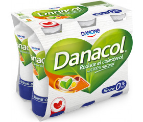 Danacol natural  6u. DANONE 100ml 6u.